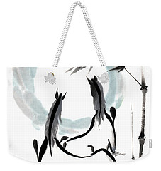 Zen Horses Into The Vortex Weekender Tote Bag by Bill Searle