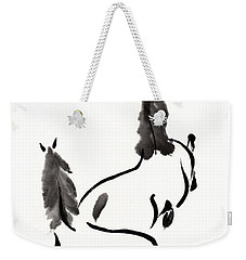 Zen Horses Retired Weekender Tote Bag by Bill Searle