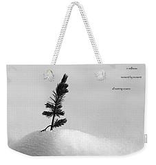 Weekender Tote Bag featuring the photograph Zen Wisdom Stillness by Peter v Quenter