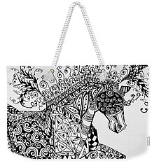 Zentangle Circus Horse Weekender Tote Bag by Jani Freimann