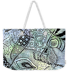 Weekender Tote Bag featuring the drawing Tangled Ribbons by Kristen Fox