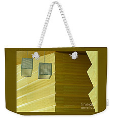 Weekender Tote Bag featuring the photograph Zig-zag by Ann Horn