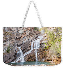 Weekender Tote Bag featuring the photograph Zigzag Waterfall by John M Bailey