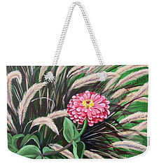 Zinnia Among The Grasses Weekender Tote Bag