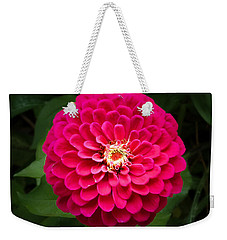 Zinnia In Bloom Square Weekender Tote Bag