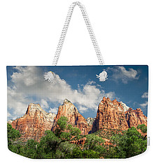 Weekender Tote Bag featuring the photograph Zion Court Of The Patriarchs by Tammy Wetzel
