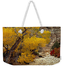 Zion National Park Autumn Weekender Tote Bag by Leland D Howard