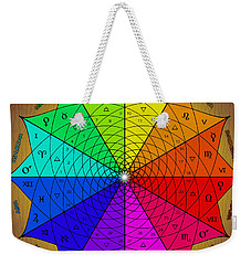 Zodiac Color Star Weekender Tote Bag