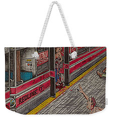 Zombies On The Red Line Weekender Tote Bag