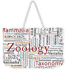 Zoology 1 - Mammals In Typography Weekender Tote Bag