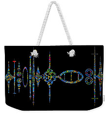 Weekender Tote Bag featuring the photograph Zunzigar Reflection by Mark Blauhoefer