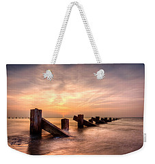 Weekender Tote Bag featuring the photograph  Abermaw Sunset by Beverly Cash