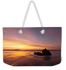 Weekender Tote Bag featuring the photograph  Atomic Sunset by Beverly Cash