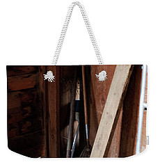 Weekender Tote Bag featuring the photograph  Barn Closet by Lorraine Devon Wilke