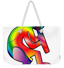 Colorful Kokopelli Silhouette Weekender Tote Bag