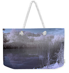 Weekender Tote Bag featuring the photograph  Infrared Pond by Beverly Cash