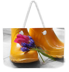 Spring Boots Weekender Tote Bag by Cathy  Beharriell