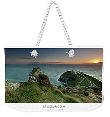 Sunset At South Stack Lighthouse Weekender Tote Bag