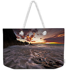 Sunset Tides - Porth Swtan Weekender Tote Bag