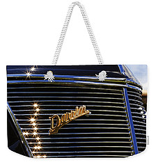 Weekender Tote Bag featuring the photograph 1937 Ford Model 78 Cabriolet Convertible By Darrin by Gordon Dean II