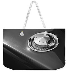 Weekender Tote Bag featuring the photograph 1968 Dodge Charger Fuel Cap by Gordon Dean II