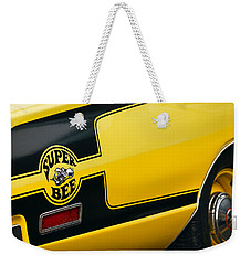 Weekender Tote Bag featuring the photograph 1970 Dodge Coronet Super Bee by Gordon Dean II