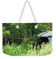 A Broken Down Farm Building Weekender Tote Bag