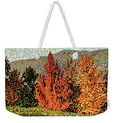 Autumn Landscape Weekender Tote Bag by Henri-Edmond Cross