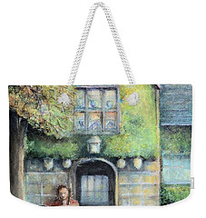 Weekender Tote Bag featuring the painting Bass Fiddle At Ford Gala I by Bernadette Krupa
