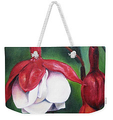 Weekender Tote Bag featuring the painting Big Bold And Beautiful by Lori Brackett