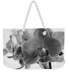 Black And White Orchid Weekender Tote Bag