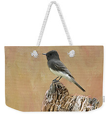 Black Phoebe Weekender Tote Bag by Betty LaRue