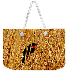 Blackbird In The Reeds Weekender Tote Bag