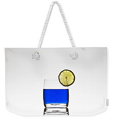 Blue Cocktail With Lemon Weekender Tote Bag