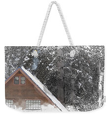 Cabin In The Winter Weekender Tote Bag