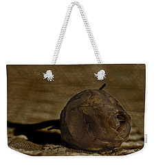 Weekender Tote Bag featuring the photograph Dead Rosebud by Steve Purnell