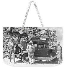Weekender Tote Bag featuring the photograph Depression Travlers by Bonfire Photography