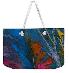 Weekender Tote Bag featuring the painting Earth Spirit by Mary Sullivan