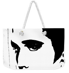 Elvis In Black And White Weekender Tote Bag