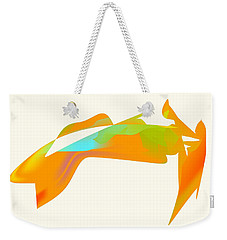 Weekender Tote Bag featuring the digital art Falcon Pond by Kevin McLaughlin