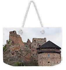 Weekender Tote Bag featuring the photograph Filakovo Hrad - Castle by Les Palenik