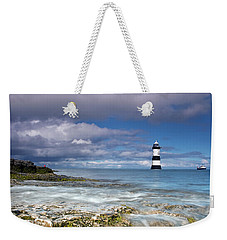 Fishing By The Lighthouse Weekender Tote Bag