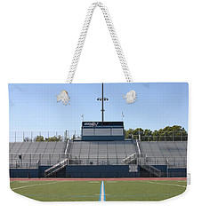 Weekender Tote Bag featuring the photograph Football Field Fifty by Henrik Lehnerer