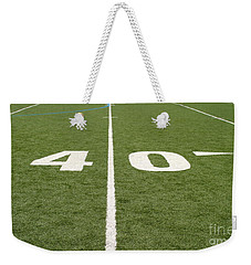 Football Field Forty Weekender Tote Bag