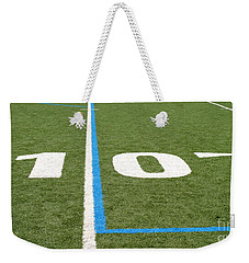 Weekender Tote Bag featuring the photograph Football Field Ten by Henrik Lehnerer