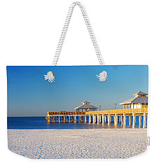 Fort Myers Beach Pier Weekender Tote Bag