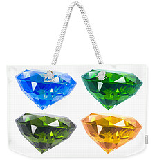 Weekender Tote Bag featuring the jewelry Four Diamond by Atiketta Sangasaeng