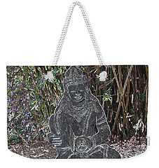 Weekender Tote Bag featuring the photograph Garden Goddess by Donna  Smith