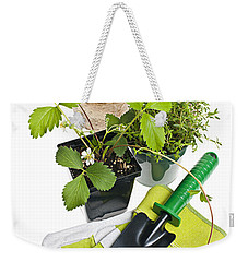 Gardening Tools And Plants Weekender Tote Bag by Elena Elisseeva