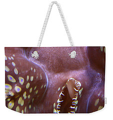 Giant Clam In Pink With Yellow Spots Weekender Tote Bag